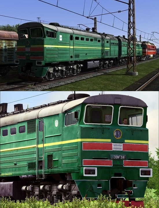 2ТЭ10М тепловоз для Train Simulator 2015