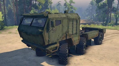КамАЗ-63968 Typhoon 6x6 Self Loader 1.0 для Spin Tires