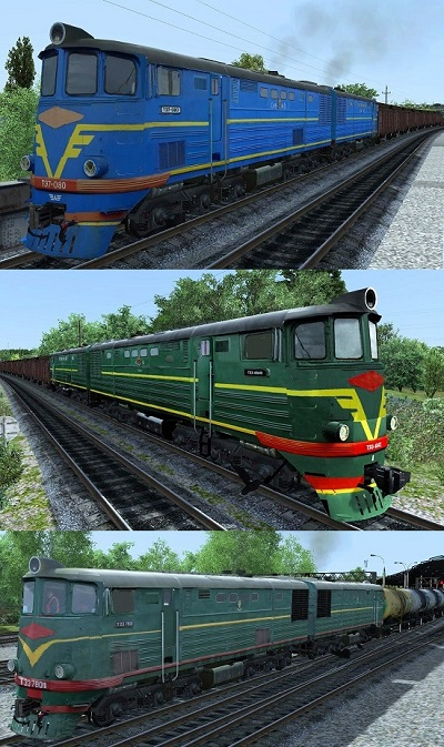 ТЭ7 080, 6542, 7801 тепловоз для Train Simulator 2015