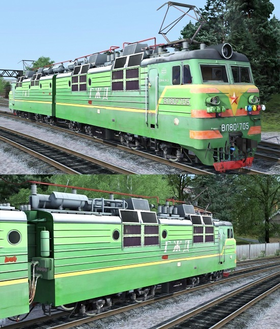 ВЛ80с-705 электровоз для Train Simulator 2015