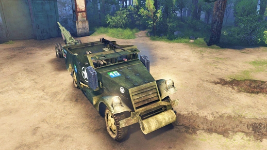M3 Scout Car 1st Armoured Division для Spin Tires 03.03.16