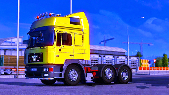 MAN F2000 with Corrected Inside Cabin Height для Euro Truck Simulator 2 1.23
