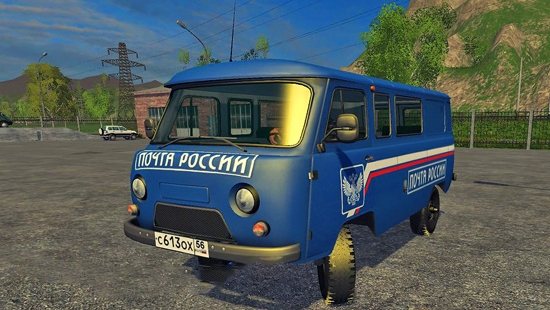 УАЗ 3909 Почта России для Farming Simulator 2015