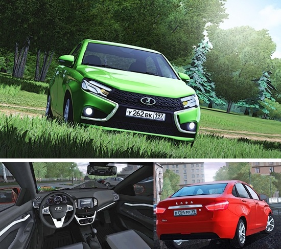 Lada Vesta для City Car Driving 1.4.1, 1.5.1