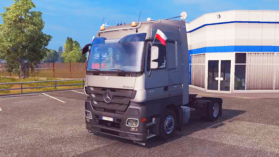 Mercedes Actros MP3 Reworked v1.4 ETS 2 1.24