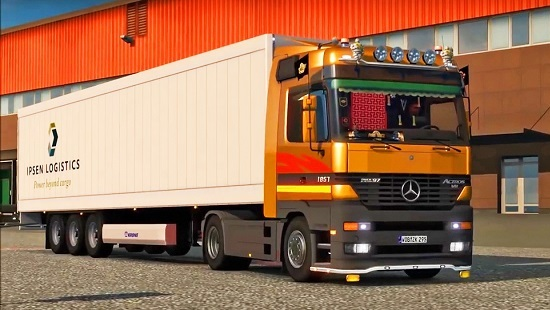 Mercedes Benz Actros MP1 by Solaris36 V2 для Euro Truck Simulator 2 1.24