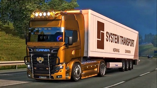 Scania illegal V8 Reworked v3.0 ETS 2 1.24