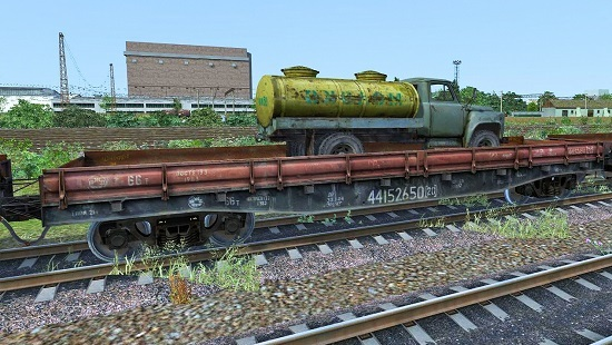 Платформы 13-401 с грузом 58 шт. v1 для Train Simulator 2016