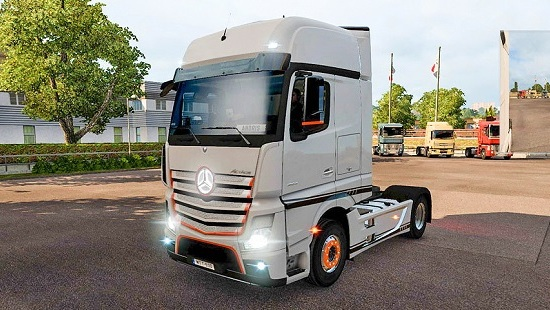 Mercedes Benz Actros MP4 Edition 1 (Orange) для ETS 2 1.25