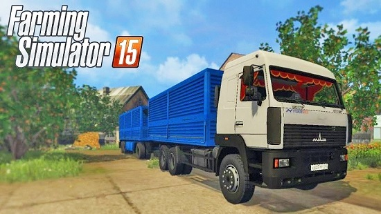 Маз 6312+Сзап 83053 для Farming Simulator 2015