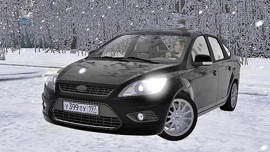 Ford Focus 2 Sedan для City Car Driving 1.5.2