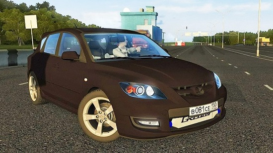 Mazda 3 MPS Turbo для City Car Driving 1.5.0-1.5.2
