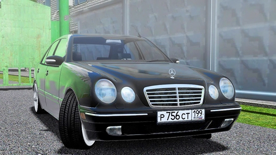 Mercedes-Benz E420 для City Car Driving 1.5.1 - 1.5.2