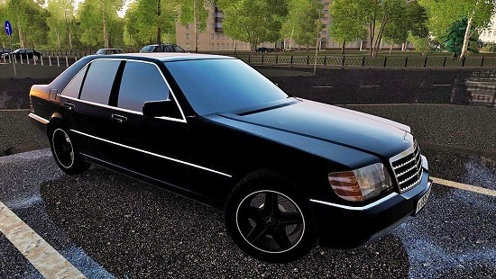 Mercedes-Benz S600 W140 для City Car Driving 1.5.1-1.5.3