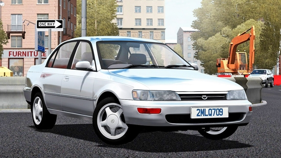 Toyota Corolla XE100 1995 для City Car Driving 1.5.1-1.5.3