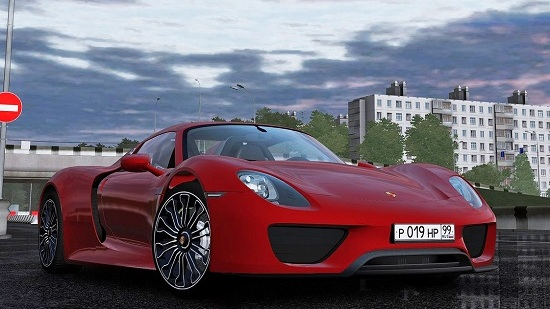 2014 Porsche 918 Spyder для City Car Driving 1.5.1 - 1.5.3-1.5.4