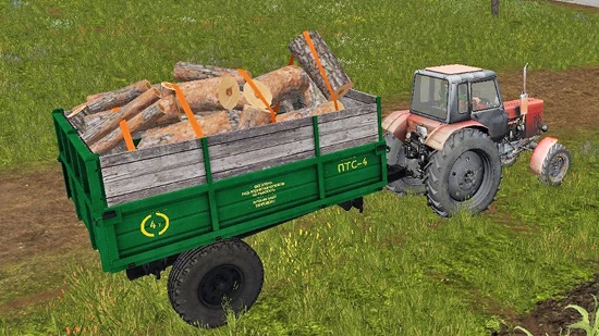 Прицеп ПТС 4 v2.0 для Farming Simulator 2017