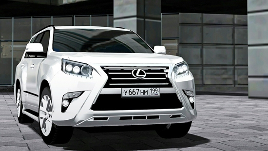 Lexus GX460 2014 для City Car Driving 1.5.1-1.5.4