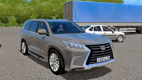 Машина Lexus LX570 для City Car Driving 1.5.1-1.5.4