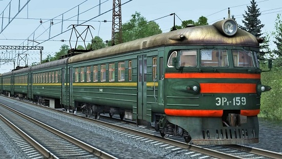 Электричка ЭР1-159 v28.12.17 для Train Simulator 2018