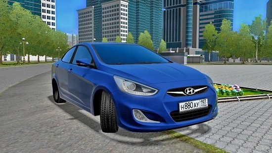 Автомобиль Hyundai Solaris для City Car Driving 1.5.1-1.5.5