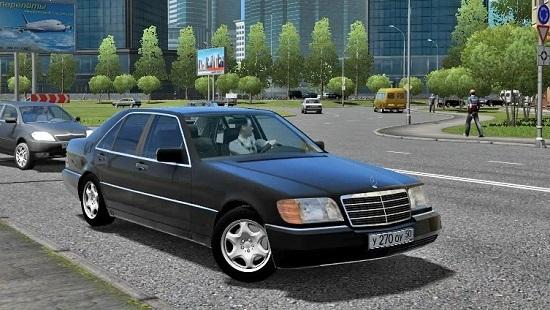 Машина Mercedes-Benz s600 w140 для City Car Driving 1.5.2-1.5.5