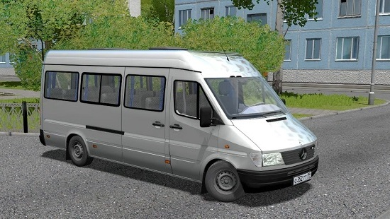 Микроавтобус Mercedes-Benz Sprinter 312D для City Car Driving 1.5.1-1.5.5