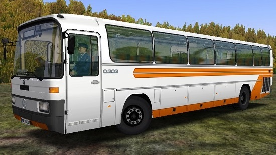 Омси 2 мод перекраска Mercedes Benz O303 - White Orange Skin OMSI 2