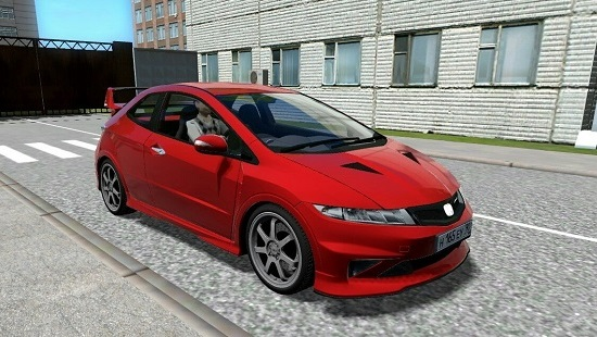 Машина Honda Civic Type-R 3D Mugen 2010 для City Car Driving 1.5.7