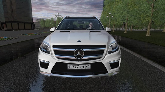 Мод Mercedes-Benz GL63 AMG для City Car Driving 1.5.7
