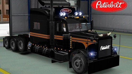 Peterbilt 389 Modified SRS National Skin для Euro Truck Simulator 2 1.21