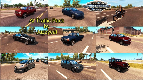 AI Traffic Pack for ATS by Jazzycat v1.0 для American Truck Simulator