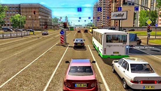 3D инструктор(City Car Driving)